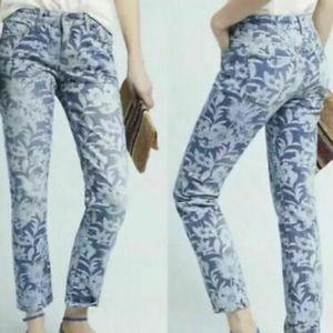 Pilcro Slim Boyfriend Midrise Floral Jeans